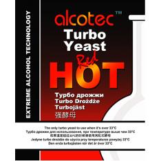 СПИРТОВЫЕ ДРОЖЖИ ALCOTEC RED HOT TURBO, 90 Г