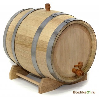 """Бочка из колотого дуба 20 литров  """"Премиум"""""""
