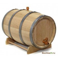 """Бочка из колотого дуба 30 литров  """"Премиум"""""""