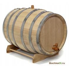 """Бочка из колотого дуба 50 литров  """"Премиум"""""""