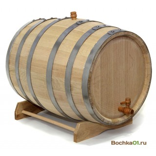"""Бочка из колотого дуба 100 литров """"Премиум"""""""