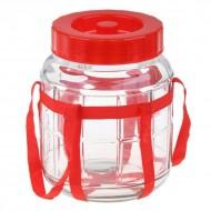 Емкость для брожения стеклянная с гидрозатвором 5 л.