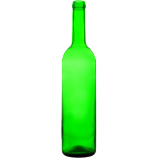 "Бутылка ""Бордо"" зеленая 0,7 л."