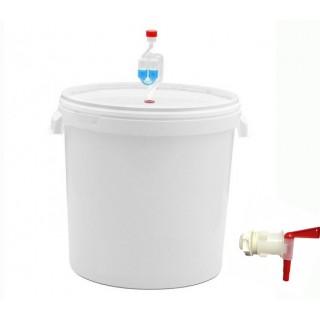 Емкость для брожения с гидрозатвором и краном 32 литра