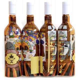 """Бутылка """"Настойка деревенская"""" 1 литр с пробкой"""