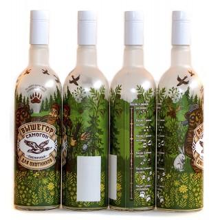 """Бутылка """"Для охотников"""" 1 литр с пробкой"""