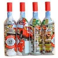 """Бутылка """"Для пожарных"""" 1 литр с пробкой"""