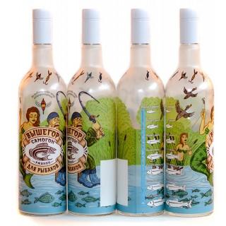 """Бутылка """"Для рыбаков"""" 1 литр. с пробкой"""