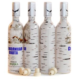 """Бутылка """"Соколиная охота. Зима""""  500 мл."""