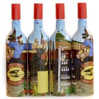 """Бутылка """"Для сотрудников"""" 1 литр с пробкой"""