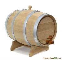 Бочка дубовая 15 литров. Колотый дуб