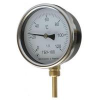 Термометр биметаллический радиальный 0-120