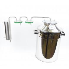 """Дистиллятор """"Умелец"""" с двумя сухопарниками банками 20 литров."""